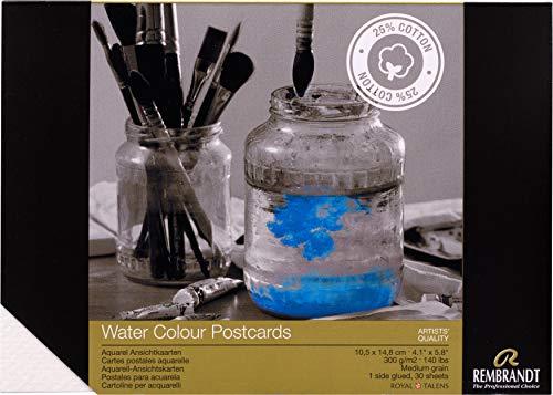 Rembrandt Aquarell Premium - Papel para postales (30 hojas, 300 g/m2, DIN A6)