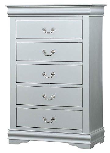 Acme Furniture Chest with 5 Storage, Platinum