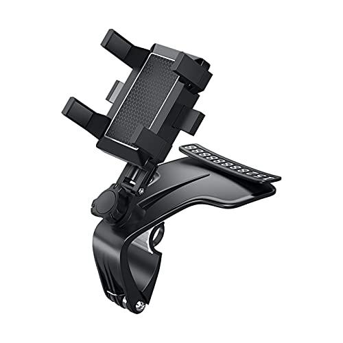 ELAULA Soporte de teléfono para coche, soporte de teléfono móvil, giratorio de 360 grados, soporte de GPS, soporte para coche, accesorios de coche, soporte de teléfono (color negro)