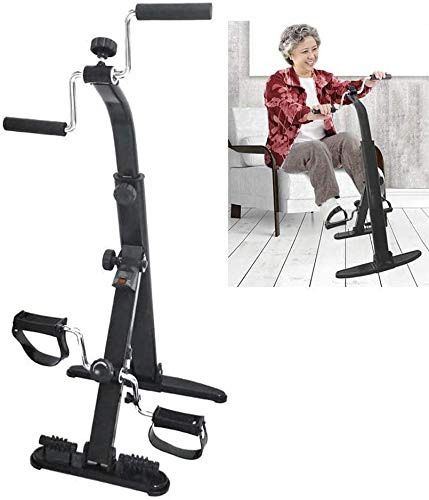 GJJSZ Creative Exercise Bike Arm- und Beintrainer,Ganzkörpertraining Fitness Faltbare Fitnessgeräte für Senioren und ältere Pedale Exercise Bike Resistance Einstellbar