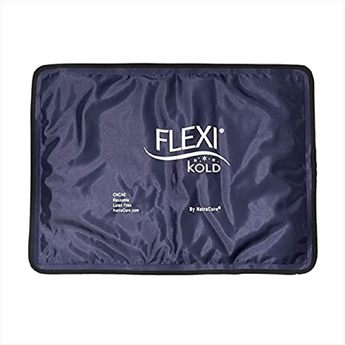 """FlexiKold Gel Ice Pack (Standard Large: 10.5"""" x 14.5"""") - Reusable Ice Pack for Injuries (Cold Pack Compress to aid Back Injuries, Pain Relief for Shoulder, Ankle, Neck, Hip, Elbow, Wrist) - 6300-COLD"""