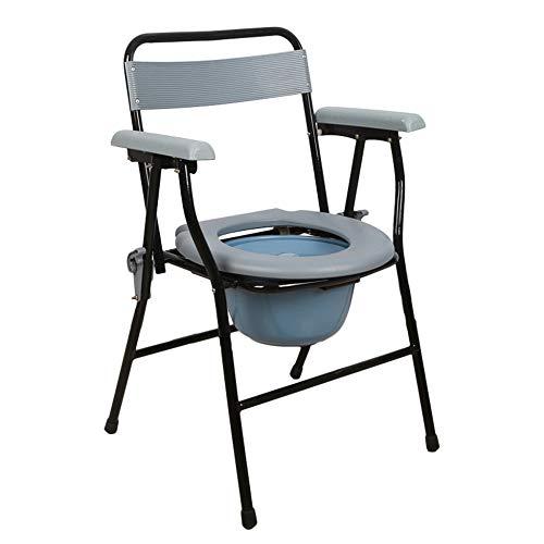 Toilettenstuhl, multifunktionaler Toilettenstuhl, mobile Toilette, wasserdicht und leicht zu reinigen, stark tragend, geeignet für Schlafzimmer, Bad, Station/A / 36x36x81cm