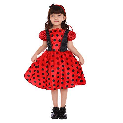 Mit freundlichen Grüßen Party Mädchen Marienkäfer Kostüm Rot/Schwarz Ballerina Bug Kostüm 5-6 Jahre