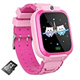 AOYMJRS Kids Smart Watch for Boys Girls, Kids Smartwatch Toy with 14 Games Music Player Camera Video Recording Flashlight Alarm Clock Calculator 12/24 hr Watches for Kids 4-12 Year Old (Pink)