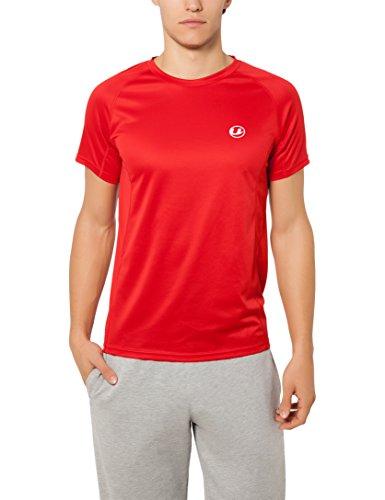 Ultrasport Kugar Camiseta funcional manga corta de fitness, transpirable y de secado rápido, deportiva, para el fitness, el fútbol, correr, Hombre