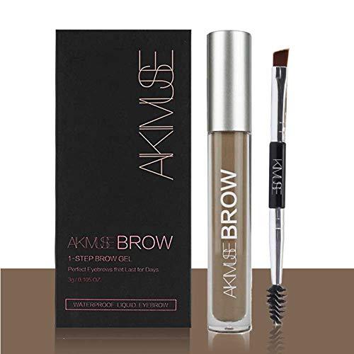 ROMANTIC BEAR Wasserfest Augenbrauen Farben Gel Mit Pinsel Set,Anti-discoloration Eyebrow Gel,BRUNETTE