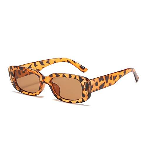 Lucky DuDu Gafas de Pesca polarizadas Mujeres de la Marca Diseñador Retro Sol Gafas Rectángulo Gafas de Sol Mujer UV400 Lente Eyewear (Color : Leopard)