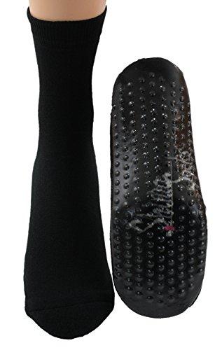 Shimasocks Sockenschuhe Homesocks Hüttenschuhe ABS schwarz, Farben alle:schwarz, Größe:41/42