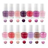 B.C. Beauty Concepts Nail Polish Set, 14 Mini Nail Polish Colors, Polish Kit for Fingernails and Toenails, 0.12 Fl Oz Each