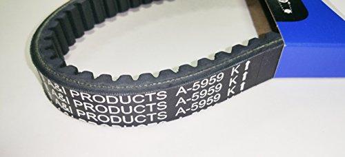 Cogged Asymmetric Go Kart Belt With Kevlar for Manco 5959