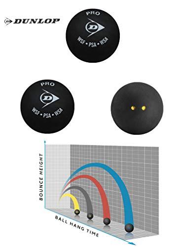 Dunlop 3 balles pro de Squash Squashbälle 3er Pro