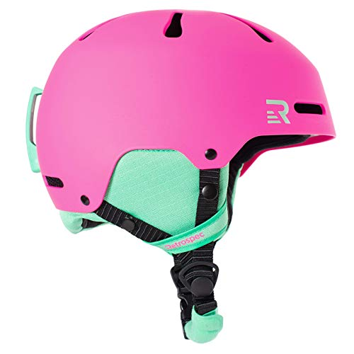 Retrospec Traverse H3 Youth Ski & Snowboard Helmet, Matte Magenta, Small (52-55cm)