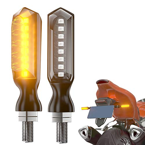 CCAUTOVIE Paar LED Blinker Motorrad Licht LED Blinker Motorrad e geprüft mit Biegbare Schraube Universal