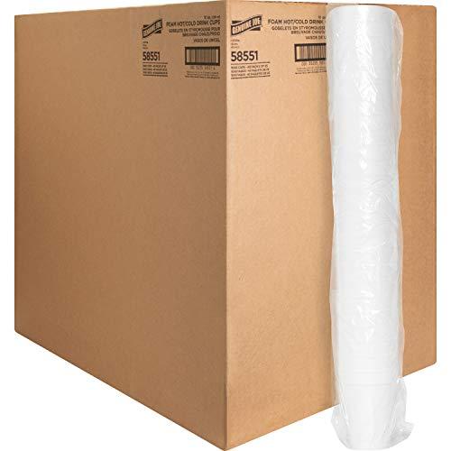 Genuine Joe-58551 Hot/Cold Foam Cups, 10 oz, White,