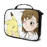 Pikachu Misaka Mikoto - Bolsa de maquillaje con múltiples compartimentos (24 x 80 x 19 cm)