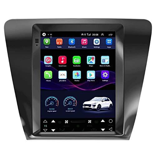 WY-CAR Android 10 Coche Radio para Skoda Octavia 2017-Hoy Coche Estéreo GPS Navegación Touch Pantalla Coche Media Player Doble DIN Head ATT Soporte WiFi Control del Volante,4 core-4G+WiFi: 2+32G