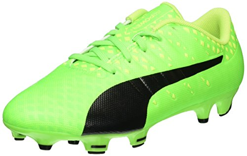 Puma EvoPower Vigor 3 FG Jr, Unisex-Kinder Fußballschuhe, Grün (Green Gecko-puma Black-Safety Yellow 01), 36 EU (3.5 Kinder UK)