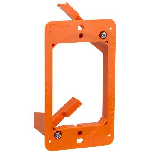 Cmple - Low Voltage Mounting Bracket 1 Gang Multipurpose Drywall Mounting Wall Plate Bracket – Single Gang