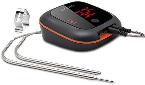 Inkbird IBT-4XS Bluetooth Barbecue Forno Termometro con Base Magnetica & Schermo di Lettura Rotativo per Barbecue, Cu...