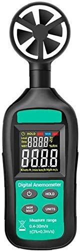 XINGDONG Medidor de Velocidad del Viento, anemómetro Digital, anemómetro de Alta precisión, medidor de Velocidad del Viento GN-301 Negro Digital de anemómetro Digital Portátil