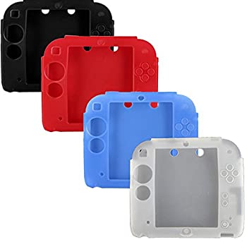 Protective Soft Silicone Rubber Gel Skin Case Cover for Nintendo 2DS  Black,Blue,Red,White