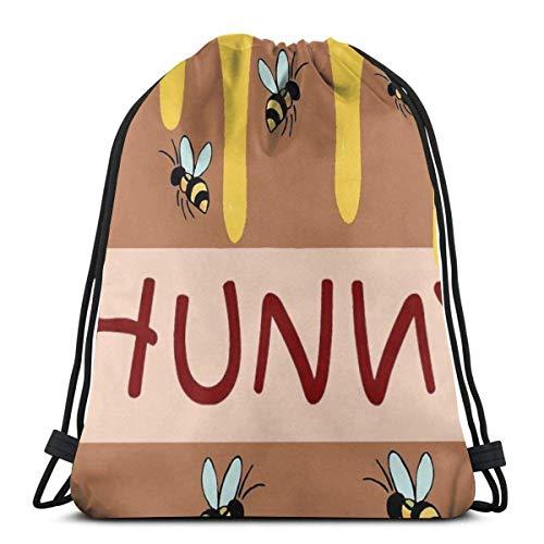 Martinielel Drawstring backpack sports bag The Hunny Pot Men and women travel fitness shopping backpacks
