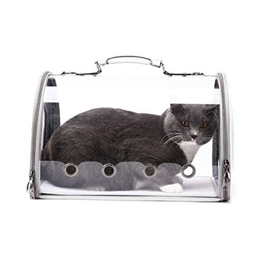 POPETPOP- Haustier Katze Reisetasche Transparente Atmungsaktive Aufbewahrungstasche Outdoor Carrier Handtasche Einkaufstasche für Katze Haustier Hund