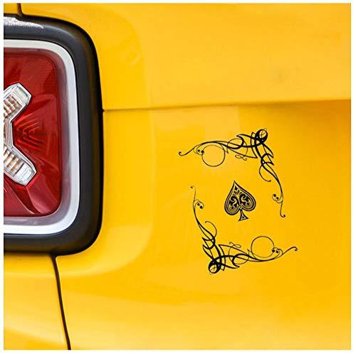 Poker spel auto sticker vinyl pvc DIY voor ramen, bumper, laptop, koffer, wand, skateboard sticker sticker decoratie 13,1 x 18,6 cm (5 stuks)