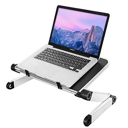 """Yoodi Supporto per Laptop Regolabile con Un Pulsante Supporto Pieghevole in Lega di Alluminio per Notebook Notebook ergonomico Adatto a Tutti i Notebook da 10""""~ 15,6"""""""