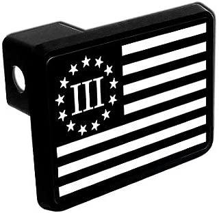 StickerPunx.com Trailer Hitch Cover - Three Percenter Flag