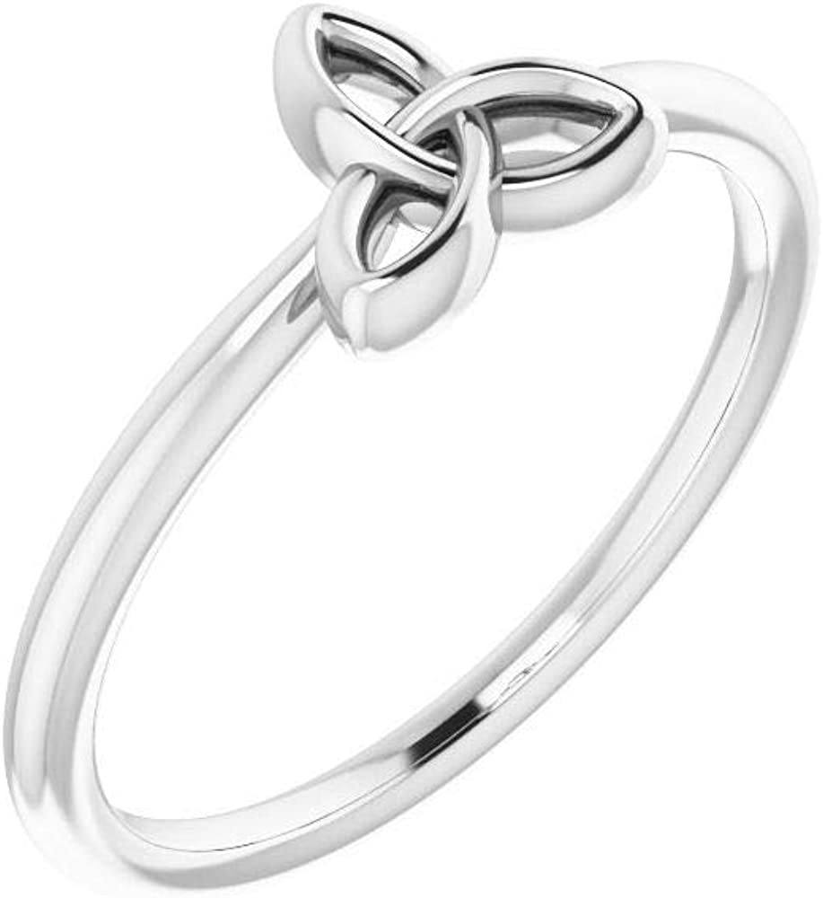 Solid Popular brand 925 Cheap sale Sterling Silver Stackable Wedding Celtic-I Anniversary