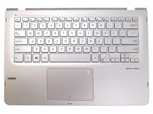 Laptop Sandblasted Aluminum Silver Top Cover Backlit Keyboard Palmrest Touchpad Assembly 90NB0G61-R30US0 for Asus Q405UA Series