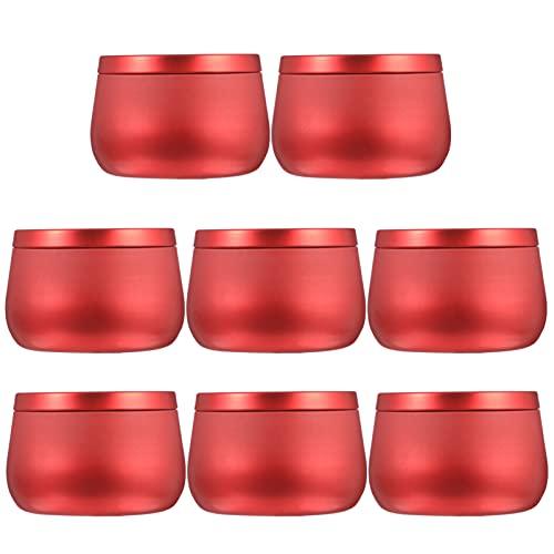ARTIBETTER - Tarros de lata para velas con tapa, tarros para velas de arte, manualidades, almacenamiento de té, latas de metal, 8...