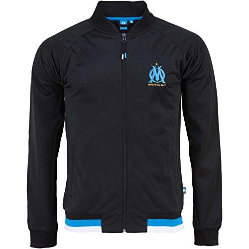 Olympique Marseille Jungen-Jacke mit Reißverschluss, offizielle Kollektion 8 Jahre schwarz