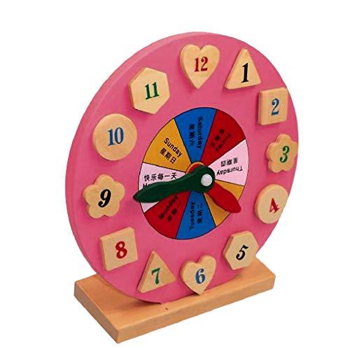 Houten educatieve klok speelgoed kinderen tijd matching tijd matching speelgoed digitale geometrie klok nummer vroege educatieve cadeau