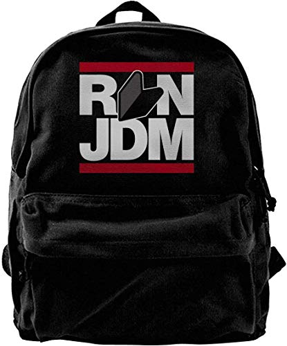 Canvas Backpack Run JDM Japanese Car Rucksack Gym Hiking Laptop Shoulder Bag Daypack for Men Women