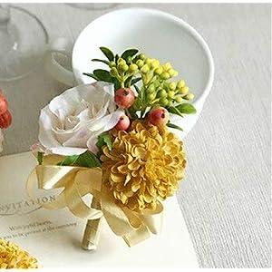 Artificial and Dried Flower Wedding Wrist Bracelet Bridesmaid Artificial Flowers Groom Boutonniere Pin Marriage Wedding Planner Silk Flower s