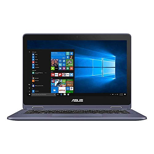 """ASUS VivoBook Flip Laptop, 11.6"""" Touch Screen, Intel Pentium, 4GB Memory, 128GB Solid State Drive, Windows 10 Home in S Mode, TP202NA-OS21T (Renewed)"""