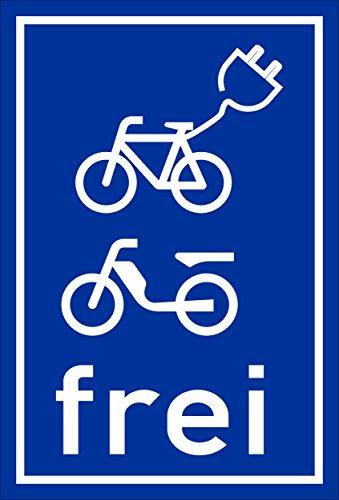 Melis Folienwerkstatt sticker schild - E-bikes bromfiets vrij - S00050-070-F