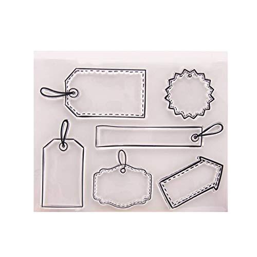 MENTIN Marque sellos claras transparentes de silicona PVC para DIY manualidades regalo Noel niño