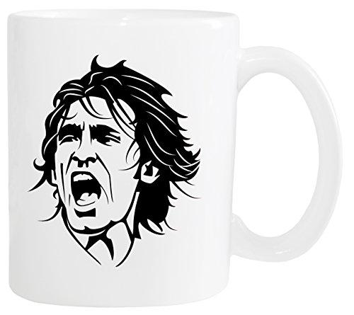 Mister Merchandise Kaffeetasse Andrea Pirlo Teetasse Becher, Farbe: Weiß