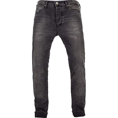 John Doe Ironehead XTM - Black | Motorradhose mit Kevlar | Einsetzbare Protektoren | Atmungsaktiv | Motorrad Jeans | Denim Jeans mit Stretch