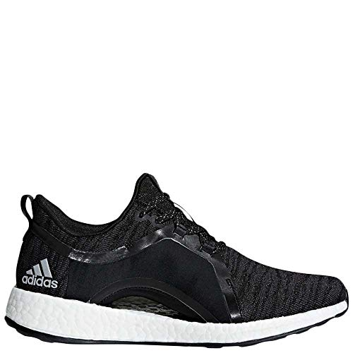 adidas Women's Pureboost X Running Shoes Carbon/Silver Metallic/Core Black 8.5 B(M) US