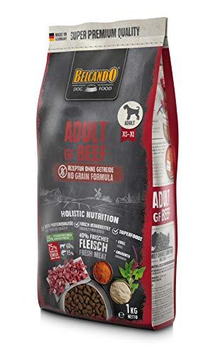 Belcando Adult GF Beef [1 kg] getreidefreies Hundefutter   Trockenfutter ohne Getreide   Alleinfuttermittel für ausgewachsene Hunde ab 1 Jahr