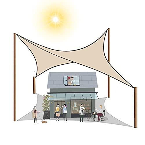 Yeanee Toldo rectangular de 2 x 1,8 m, 2 x 3 m, protector solar, impermeable, 90% a prueba de rayos UV, para patio, fiesta, playa, camping