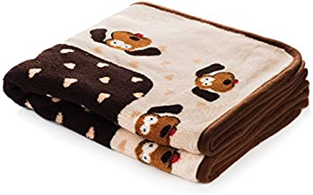 Smartpetlove Snuggle Puppy Blanket for Pets, Brown