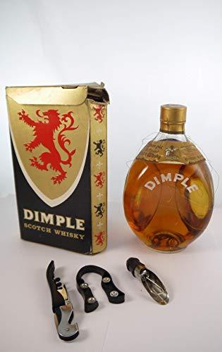 Dimple Scotch Whisky (1970's) Original Box in einer Geschenkbox, da zu 3 Weinaccessoires