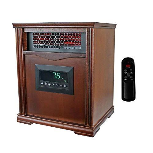 LifeSmart LifePro 4 Element 1500W Portable Electric Infrared Space Heater, Dark Oak