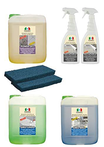 Marbec - Kit GRES PORCELLANATO | Kit Completo di Prodotti specifici per...