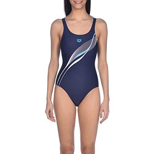 ARENA W V Back One Piece Sport-Badeanzug für Damen M Marine-Türkis